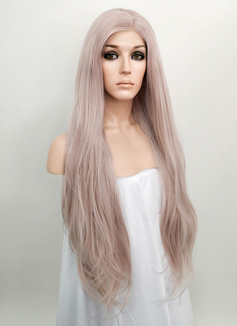 Pastel Pale Plum Straight Lace Front Synthetic Wig LF150G - Wig Is Fashion