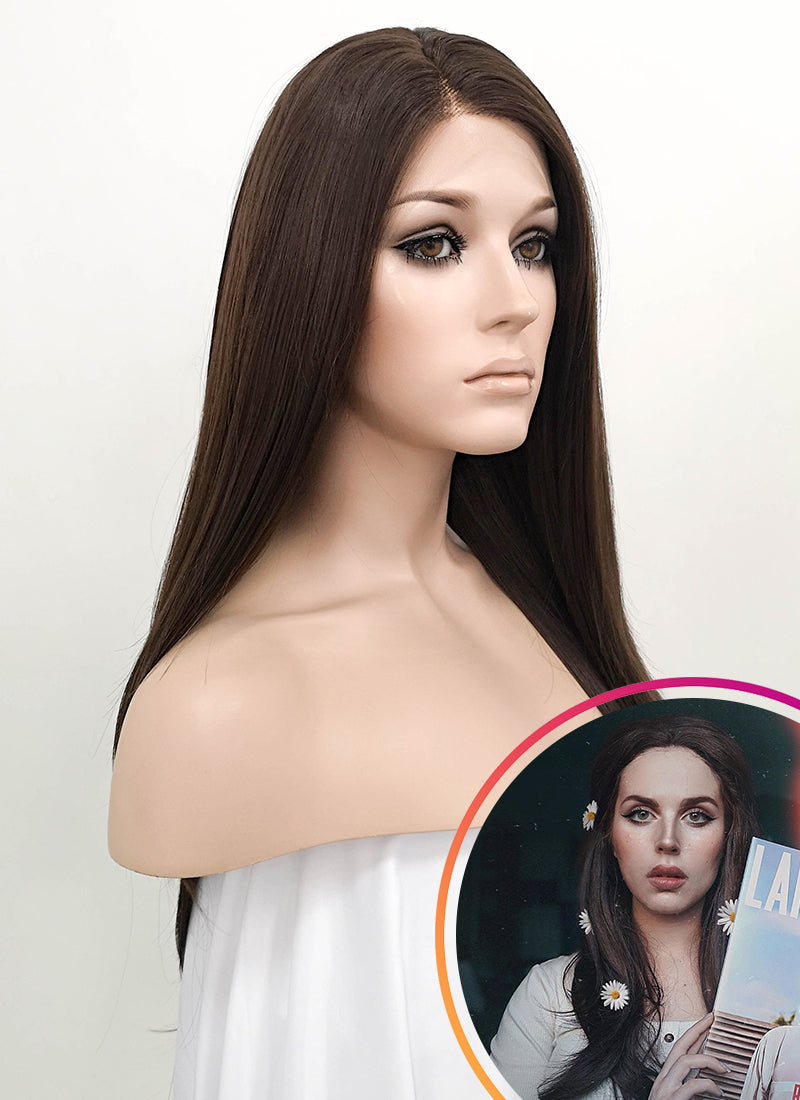 Brunette Straight Lace Front Synthetic Wig LF150 - Wig Is Fashion