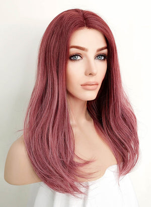 Rose Pink Straight Lace Front Synthetic Wig LF1525A - Wig Is Fashion