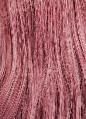 Two Tone Pinkish Red Straight Lace Front Synthetic Wig LF1525A