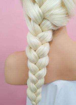 Light Blonde Elsa Braid Lace Front Synthetic Wig LF2024 - Wig Is Fashion