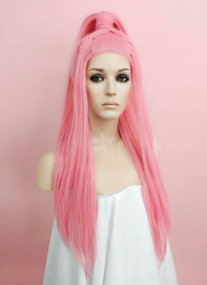 Lady Gaga Pink Braided Lace Front Synthetic Wig LF2056 - Wig Is Fashion