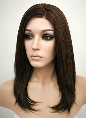 Brunette Straight Bob Lace Front Synthetic Wig LF265 - Wig Is Fashion