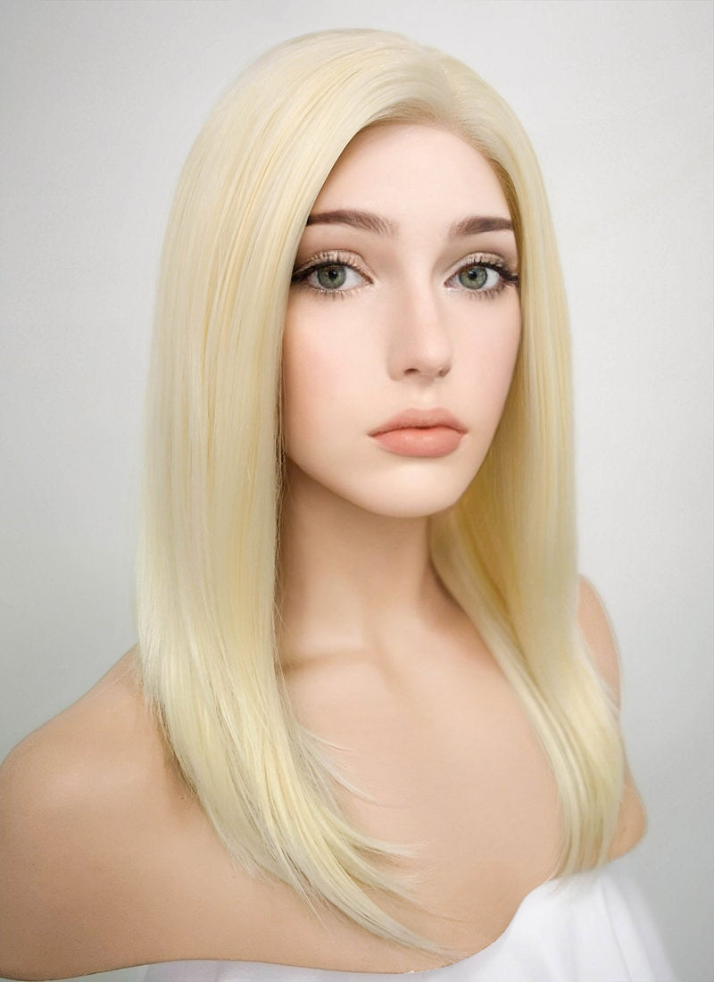 Light Blonde Straight Bob Lace Front Synthetic Wig LF269 - Wig Is Fashion