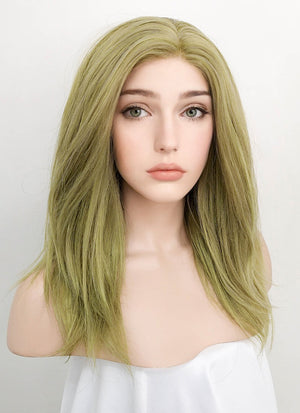 Pastel Green Straight Lace Front Synthetic Wig LF3115A - Wig Is Fashion