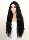 Black Wavy Lace Front Synthetic Wig LF3163