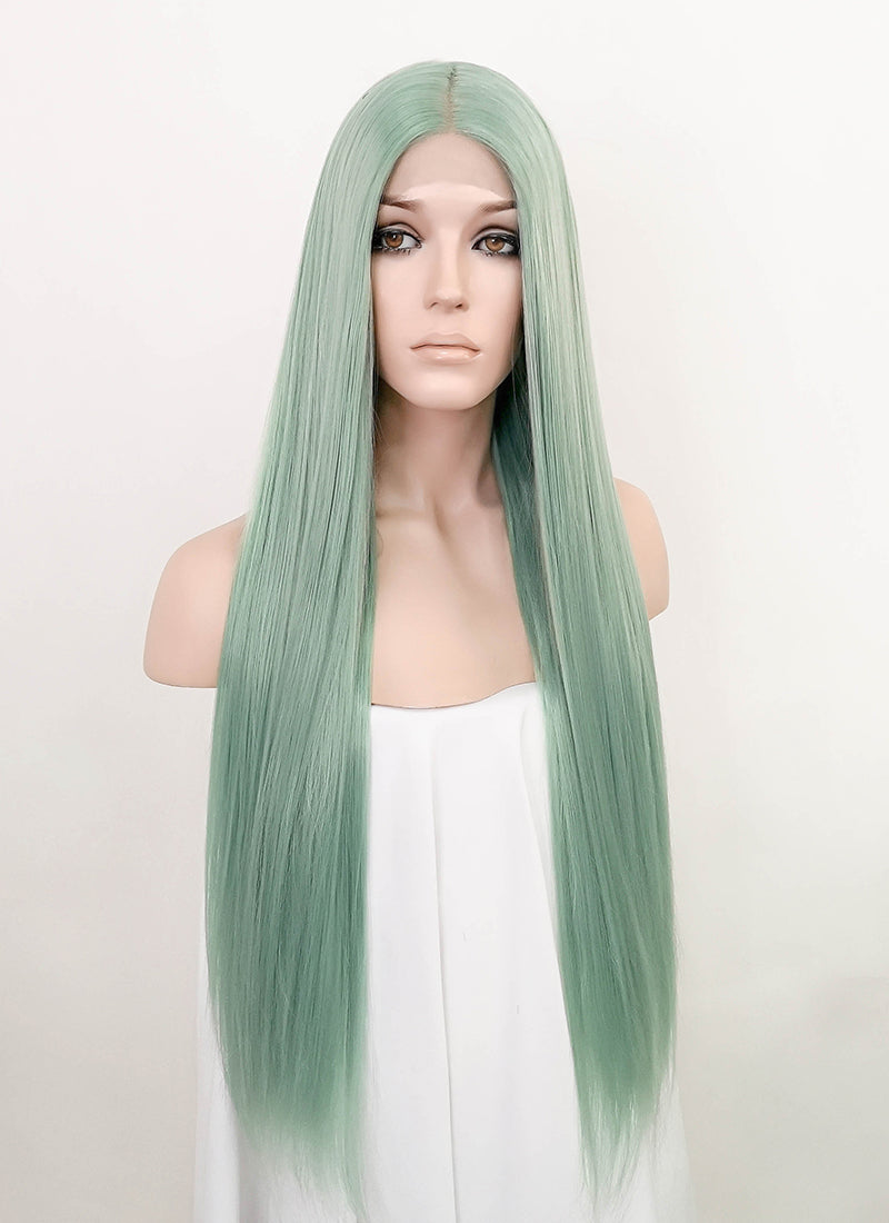 Pastel Green Straight Lace Front Synthetic Wig LF3187