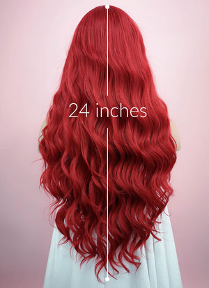 Wavy Red Lace Front Synthetic Wig LF355 - Wig Is Fashion