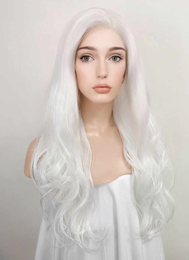 Wavy White Lace Front Synthetic Wig LF389 - Wig Is Fashion