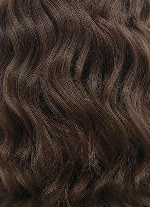 Brunette Wavy Bob Lace Front Synthetic Wig LF407 - Wig Is Fashion