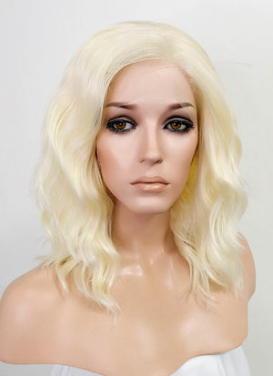 Light Blonde Wavy Bob Lace Front Synthetic Wig LF410