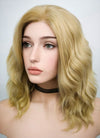Blonde Wavy Bob Lace Front Synthetic Wig LF418 - Wig Is Fashion