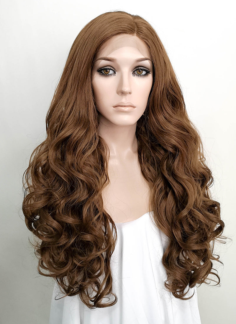"Brown Wavy 13"" x 6"" Lace Front Synthetic Wig LF5013"