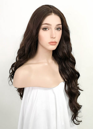 Brunette Wavy Lace Front Synthetic Wig LF5021