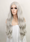 Pastel Grey Wavy Lace Front Synthetic Wig LF5040