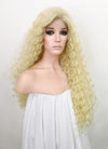 Light Blonde Curly Lace Front Synthetic Wig LF5052