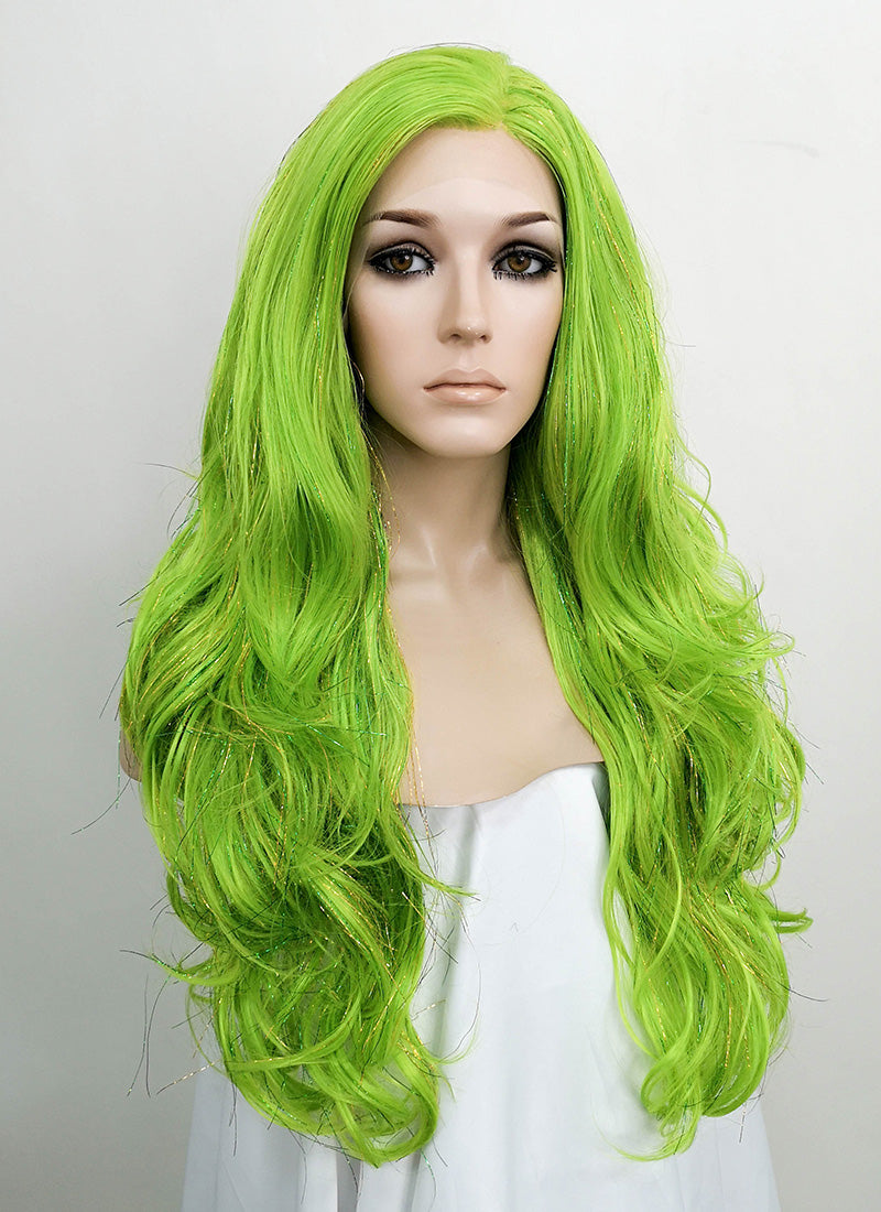 Green Wavy Lace Front Synthetic Tisnel Wig LF514 - Wig Is Fashion