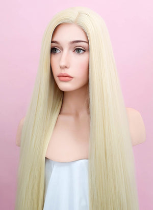 Straight Yaki Blonde Lace Front Synthetic Wig LF701E - Wig Is Fashion