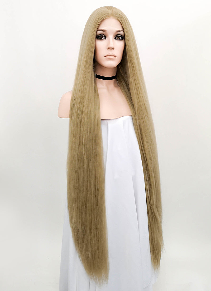Blonde Straight Yaki Lace Front Synthetic Wig LF701X - Wig Is Fashion