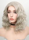 Pastel Blonde Wavy Bob Lace Front Synthetic Wig LF831B - Wig Is Fashion