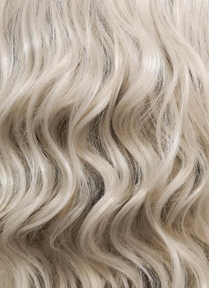 Ash Blonde Wavy Bob Lace Front Synthetic Wig LF831B - Wig Is Fashion