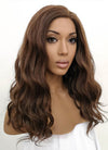 Dark Brown Wavy Lace Front Synthetic Wig LFB1265 - Wig Is Fashion