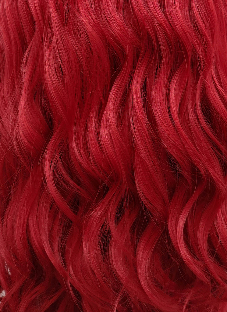 "24"" Long Curly Red Lace Front Synthetic Fashion Wig LFB355"