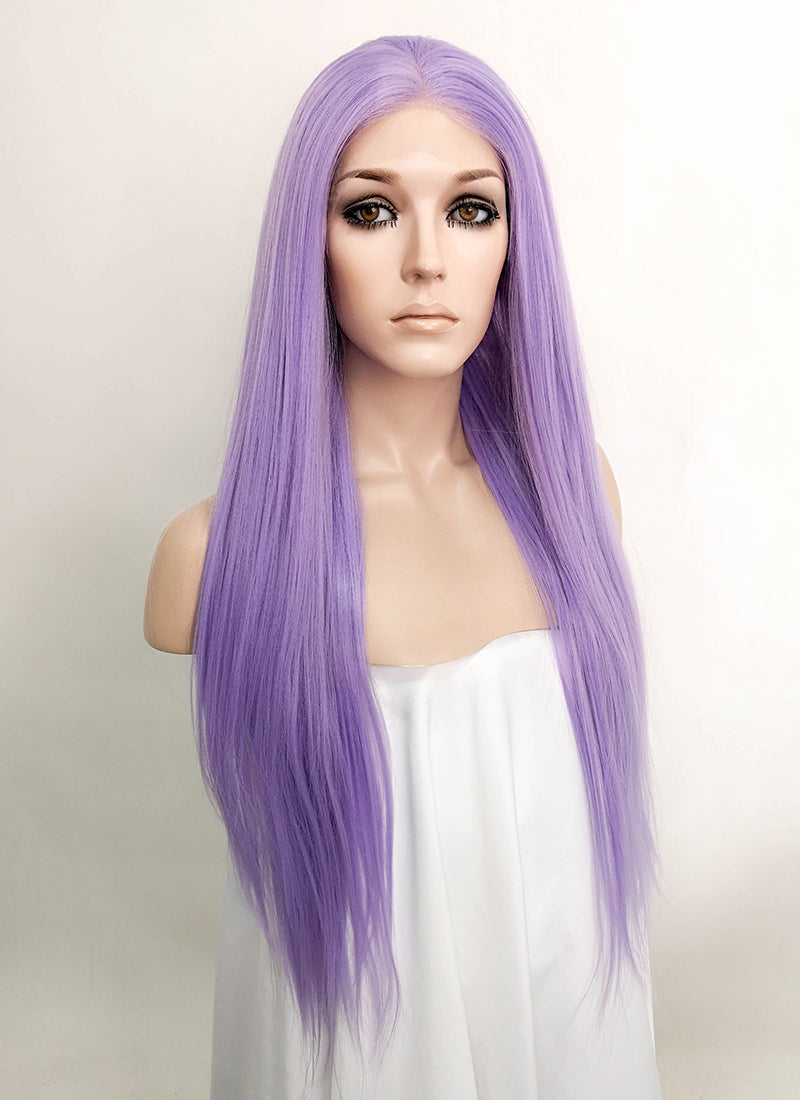 Light Purple Straight Lace Front Synthetic Wig LF5522