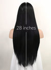 Black Straight Lace Front Synthetic Wig LFK5534
