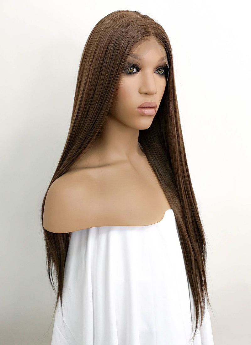 "Brunette Straight 13"" x 6"" Lace Front Synthetic Wig LFKB5508"