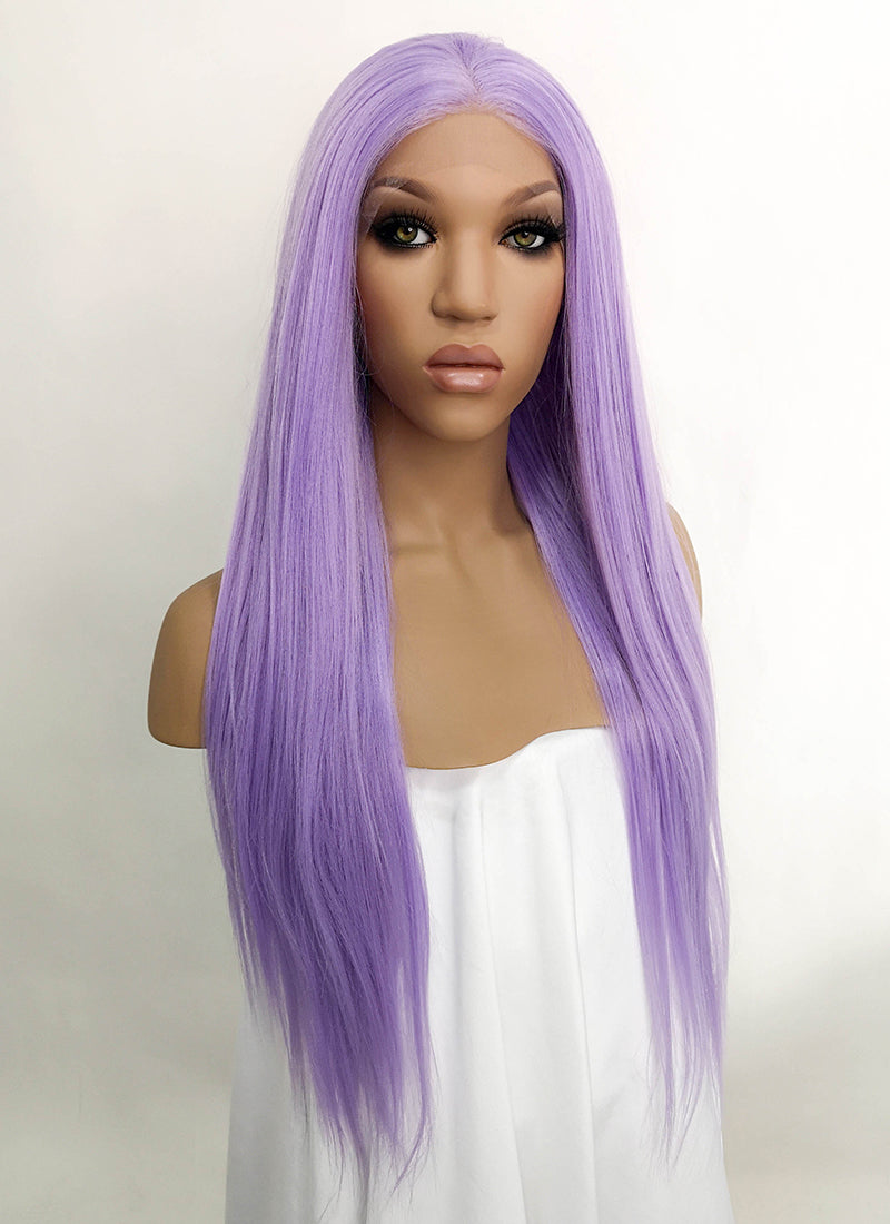 Light Purple Straight Lace Front Synthetic Wig LFB5522