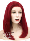 Red Straight Bob Lace Front Synthetic Wig LF819A - Wig Is Fashion