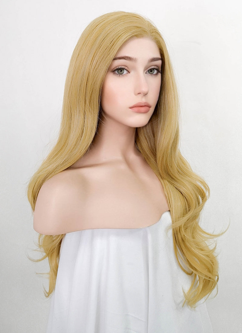 "Blonde Wavy 13"" x 6"" Lace Top Synthetic Hair Wig LFS016"