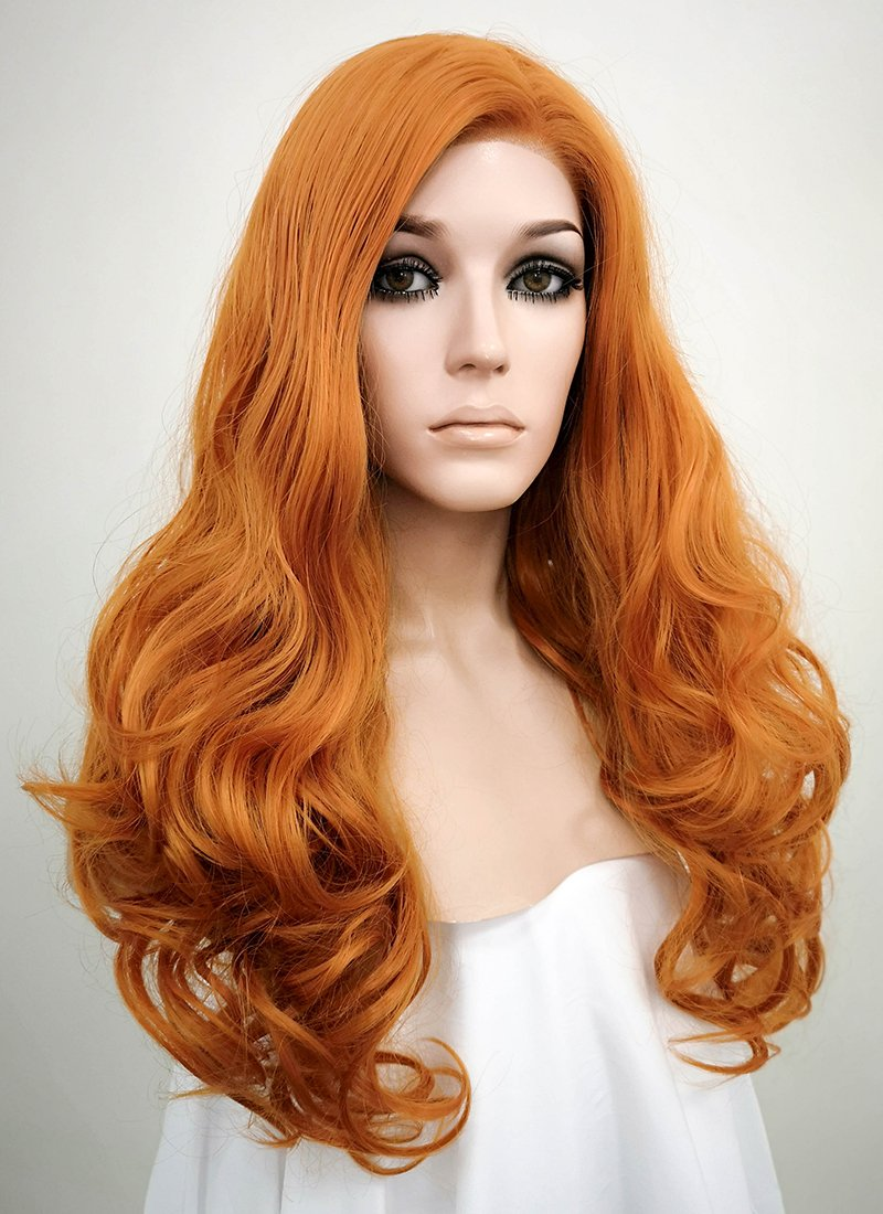 Wavy Light Auburn Lace Wig CLW085E (Customisable) - Wig Is Fashion