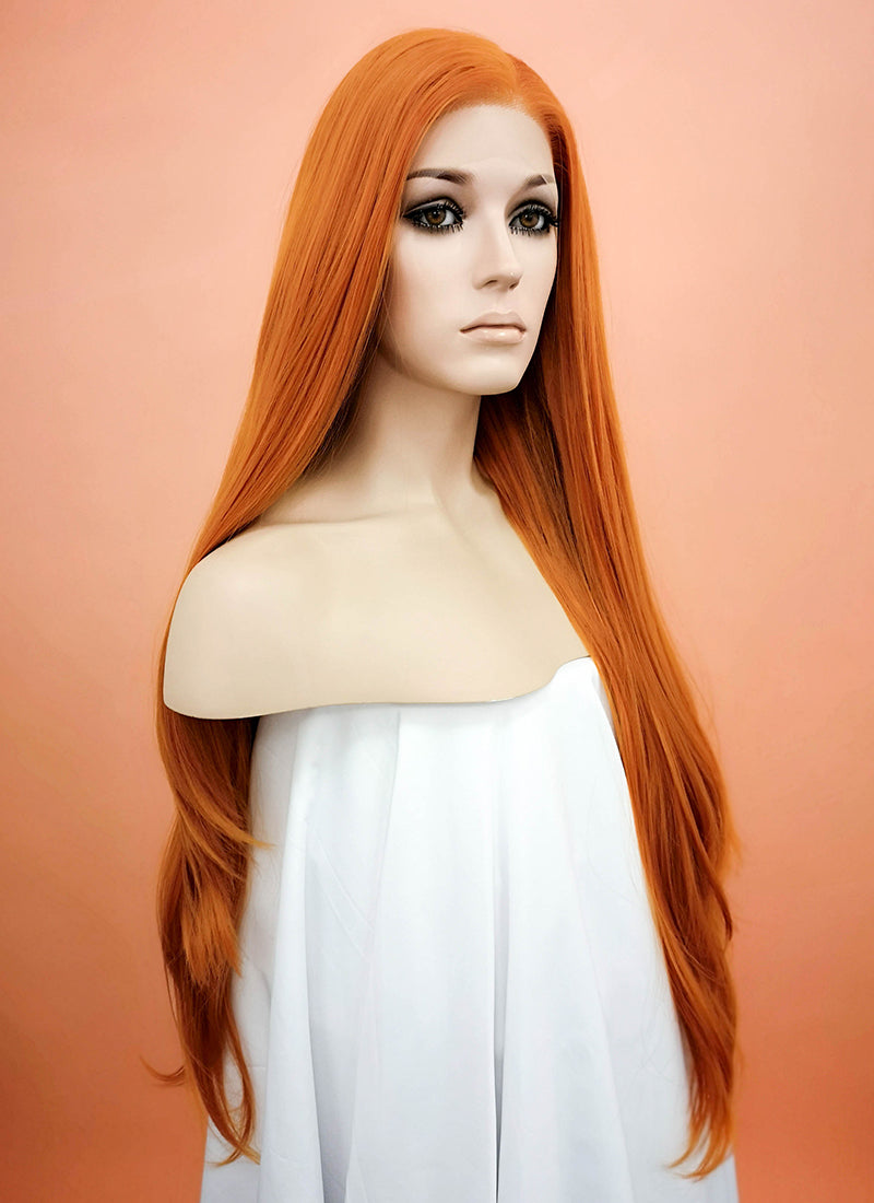 Light Auburn Straight Lace Front Synthetic Wig LW238F - Wig Is Fashion