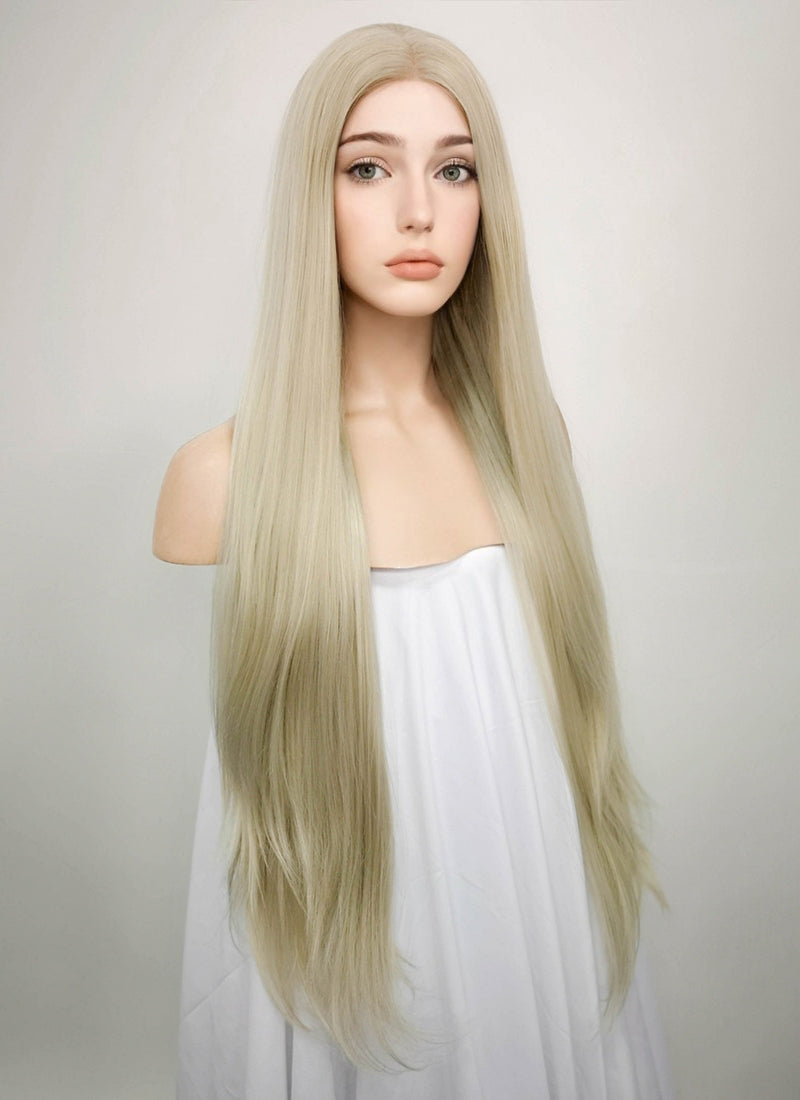 Straight Ash Blonde Lace Front Synthetic Wig LW780 - Wig Is Fashion