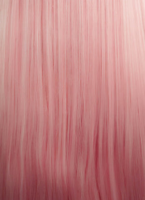 Pastel Pink Straight Lace Front Synthetic Wig LW857 - Wig Is Fashion