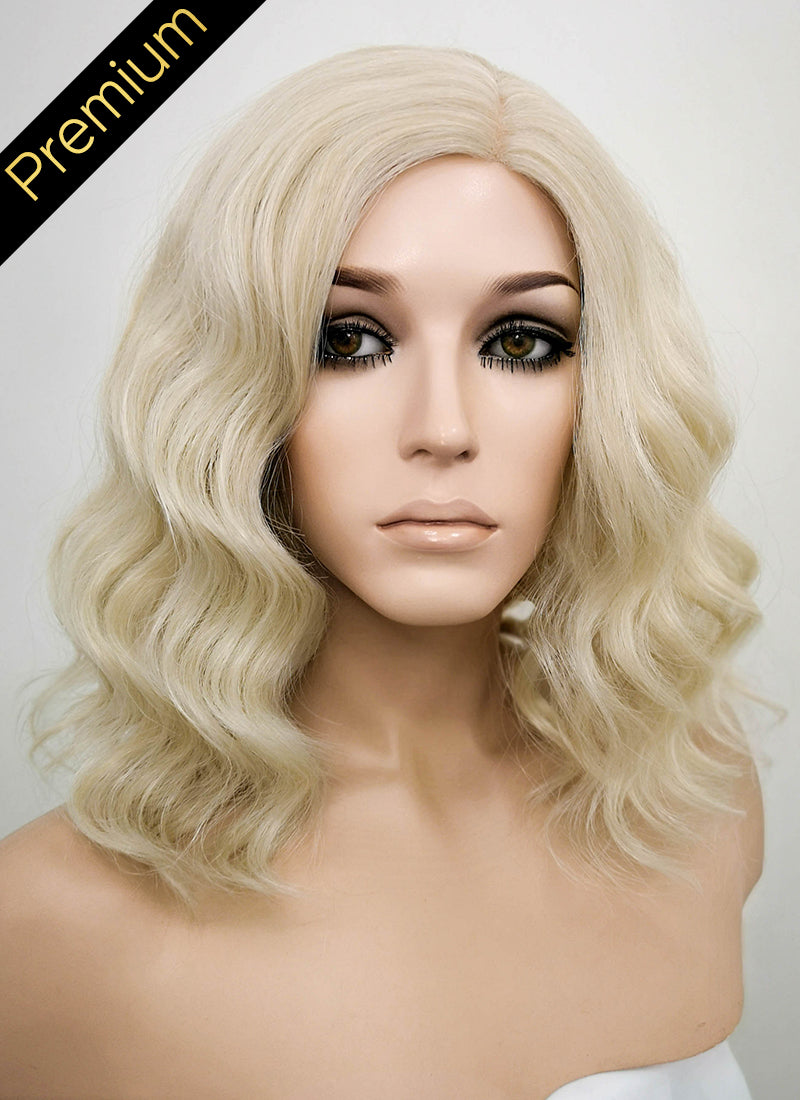 Ash Blonde Mono Parted Glueless Lace Wig MP002 - Wig Is Fashion