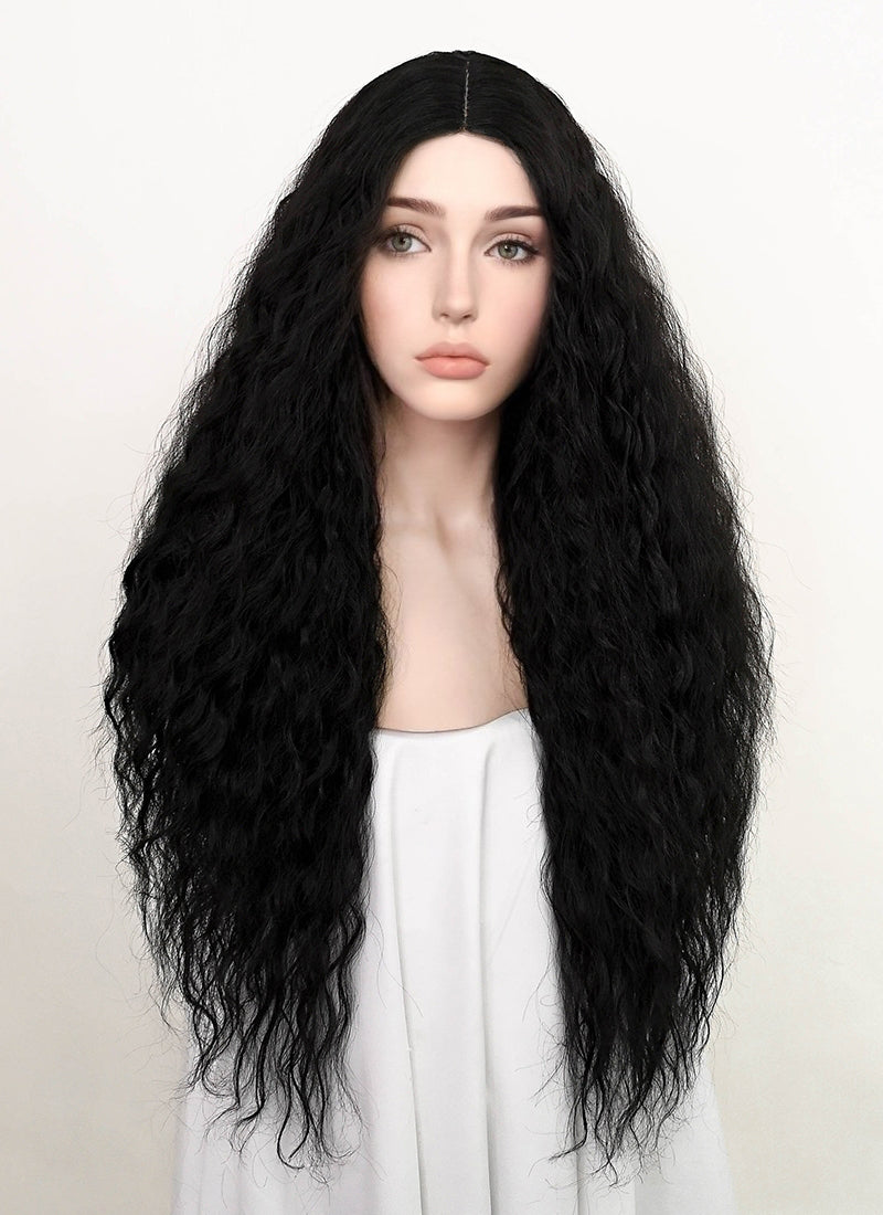 Black Wavy Synthetic Wig NL012