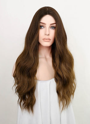 Brown Wavy Synthetic Wig NL018
