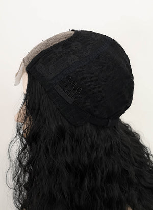 Black Wavy Synthetic Wig NL031