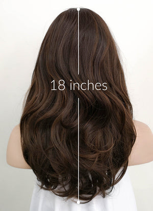 Brunette Wavy Synthetic Wig NS059 - Wig Is Fashion