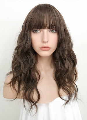 Brunette Wavy Synthetic Wig NS065