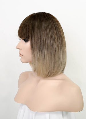 Tone Tone Brown Straight Bob Synthetic Wig NS183