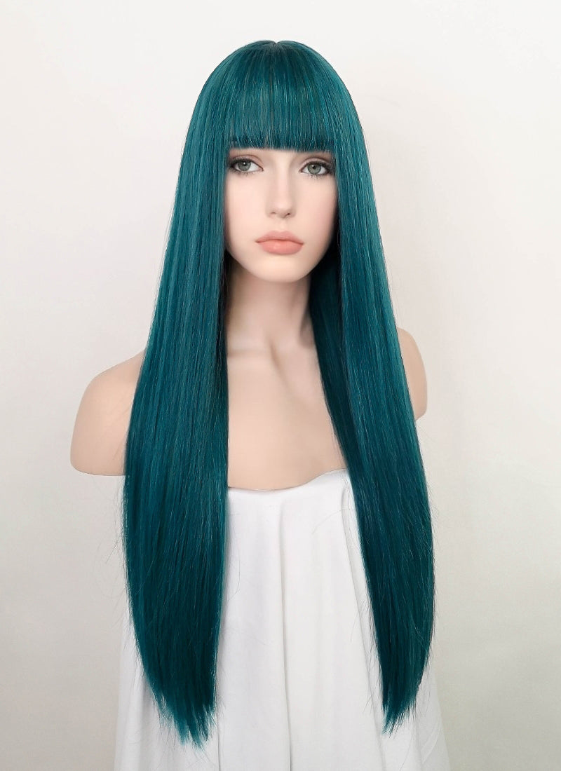 Turquoise Blue Straight Synthetic Wig NS192