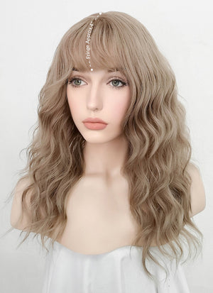 Ash Blonde Wavy Synthetic Wig NS195