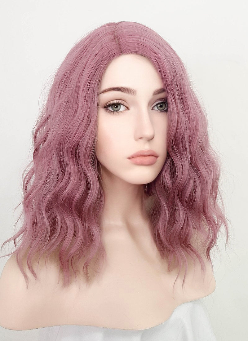 Pale Plum Wavy Bob Synthetic Wig NS225