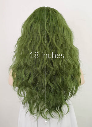 Green Wavy Synthetic Wig NS227