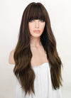 Two Tone Brown Wavy Synthetic Wig NS243