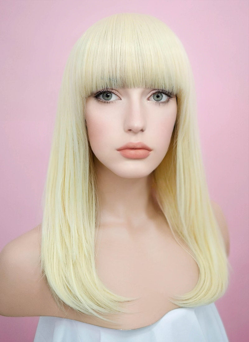 Light Blonde Straight Synthetic Wig TH002 - Wig Is Fashion